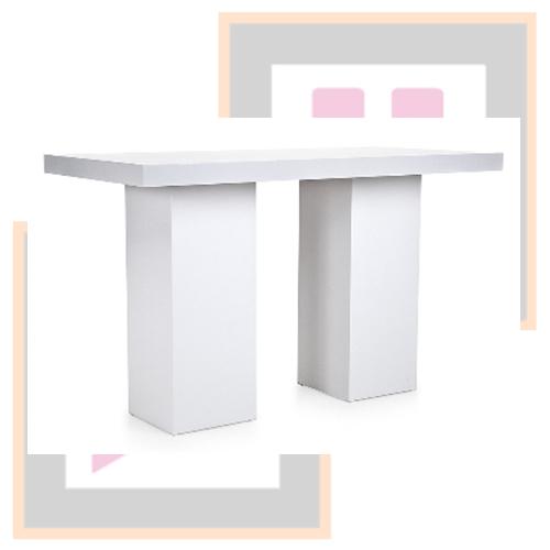 Moderne Witte Statafel.Moderne Witte Statafel 75x150x110cm Ferocius Events